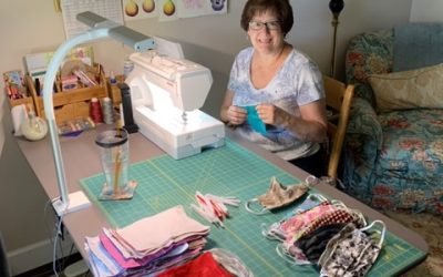 Unsung Heroes Makes Masks and  Dresses for Needy